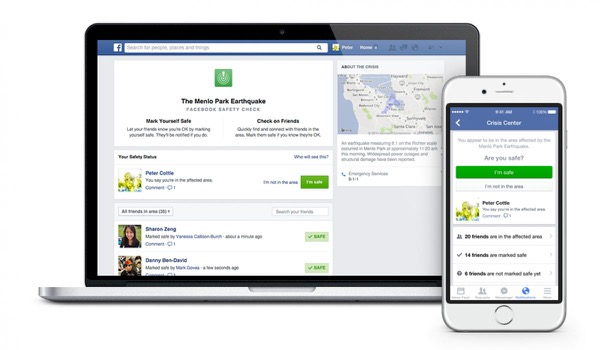 Facebook 'Safety Check' lets friends know you're OK after disasters