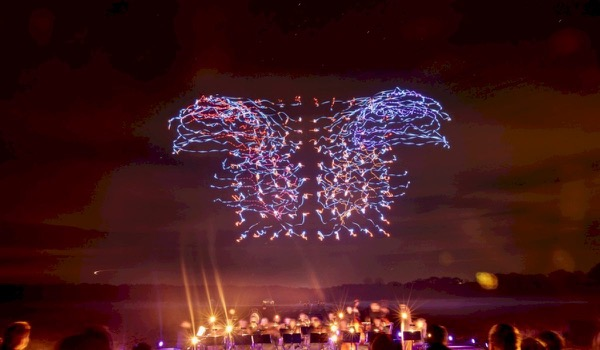 Light Show with Drones Breaks World Record